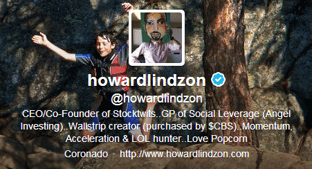 Howard Lindzon Twitter
