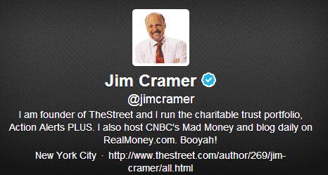 Jim Cramer Twitter