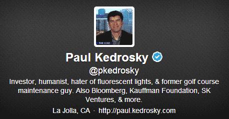 Paul Kedrosky Twitter