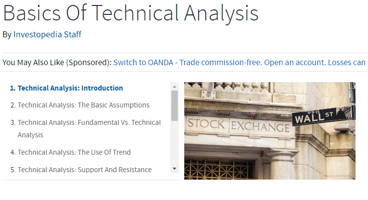 Options trading technical analysis